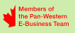 Members of the Pan-Western E-Business Team